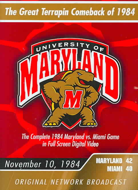 1984 MARYLAND VS MIAMI (DVD)